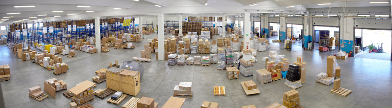 Currò Logistica vista magazzino